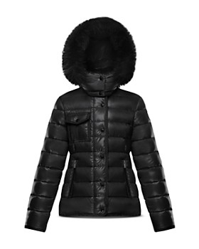 New Alberta Quilted Coat w Fur Trim Size 8 14