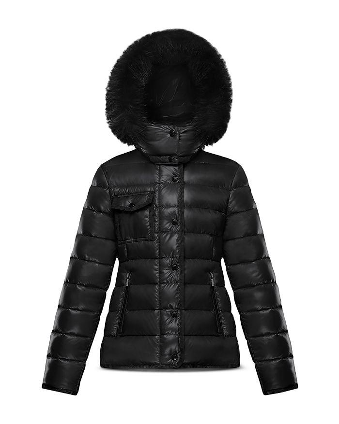 Moncler - Girls' New Armoise Fur-Trim Down Puffer Coat - Big Kid
