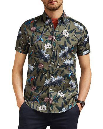 Ted Baker - Johnn Kingfisher Printed Slim Fit Shirt