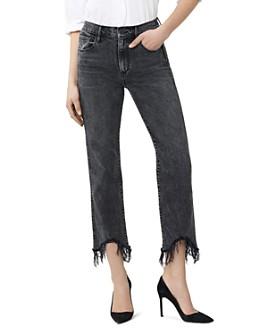 3x1 - Austin Crop Fray Straight-Leg Jeans in Rush