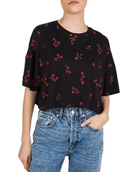 The Kooples - Embroidered Ladybug-Motif Tee