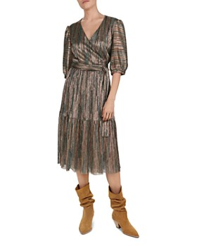 ba&sh - Star Metallic Wrap Dress
