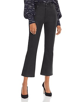 7 For All Mankind - High-Waist Coated Kick Flare Jeans