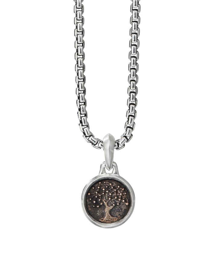 David Yurman Sterling Silver & Bronze Extra Small Tree Of Life Amulet    Bloomingdale's