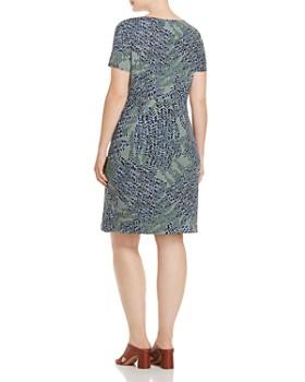 NIC and ZOE Plus - Leaf-Print Sheath Dress