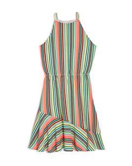 AQUA - Girls' Striped Halter Dress, Big Kid - 100% Exclusive