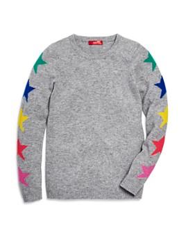 AQUA - Girls' Star Cashmere Sweater, Big Kid - 100% Exclusive