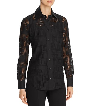 Lafayette 148 New York - James Semi-Sheer Blouse