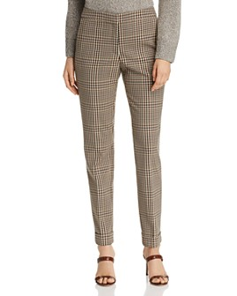 Lafayette 148 New York - Clinton Plaid Cuffed Pants