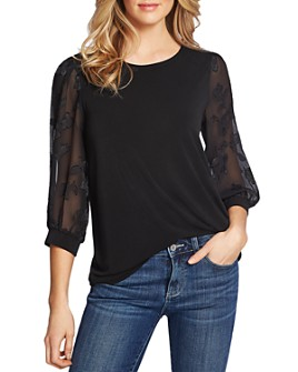 CeCe - Lace-Sleeve Top