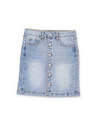 7 For All Mankind - Girls' Denim Button-Down Skirt - Little Kid