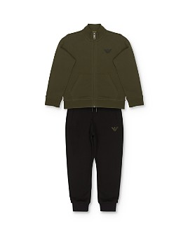Armani - Boys' Zip Sweatshirt & Jogger Pants Set - Little Kid, Big Kid