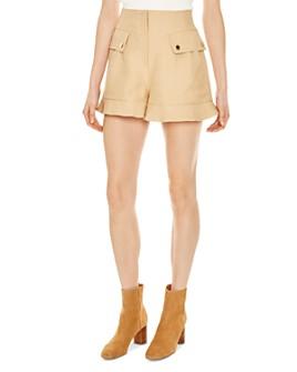 Sandro - Yann Ruffled Safari-Inspired Mini Shorts