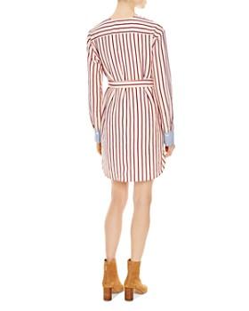 Sandro - Paige Striped Belted Mini Dress