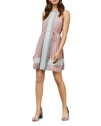 Lellian Pleated Color Block Dress by Ted Baker