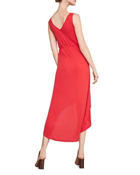 BCBGMAXAZRIA - Buttoned High-Low Midi Dress