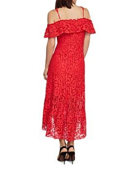 BCBGMAXAZRIA - Lace Cold-Shoulder Midi Dress