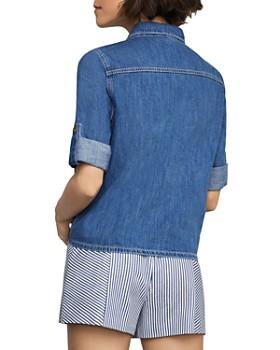BCBGMAXAZRIA - Tie-Front Denim Shirt
