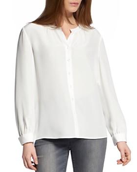 BASLER - Silk Button-Front Blouse