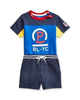 Ralph Lauren - Boys' Color-Block Tee & Shorts Set - Baby