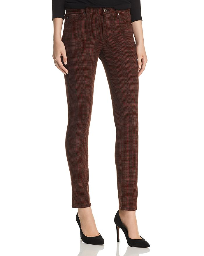 AG - Prima Skinny Jeans in Rich Crimson/Black Plaid - 100% Exclusive