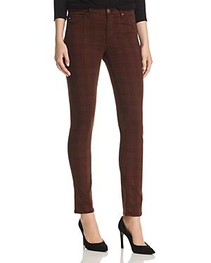 Ag Prima Skinny Jeans in Rich Crimson/Black Plaid - 100% Exclusive