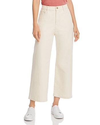 FRAME - Ali Wide Crop Jeans in Winter White