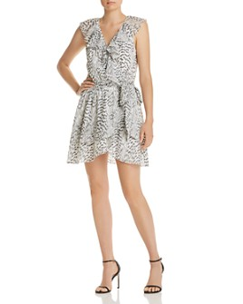 Ramy Brook - Wilma Sleeveless Embroidered Wrap Dress