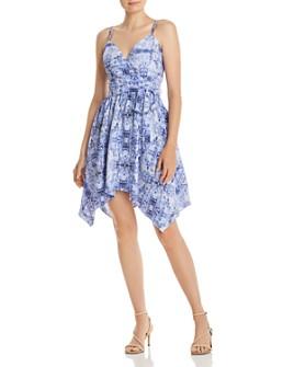 AQUA - Paisley Handkerchief-Hem Dress - 100% Exclusive