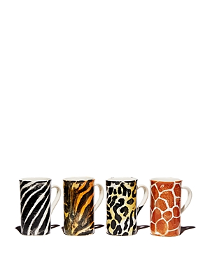 Vietri Into the Jungle Animal Patterned Latte Mugs Set of 4 - 100% Exclusive-Home