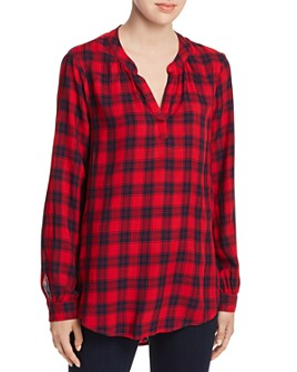 BeachLunchLounge - Bee Plaid Pullover Top