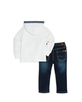 7 For All Mankind - Boys' Waffle-Knit Hoodie & Jeans Set - Baby