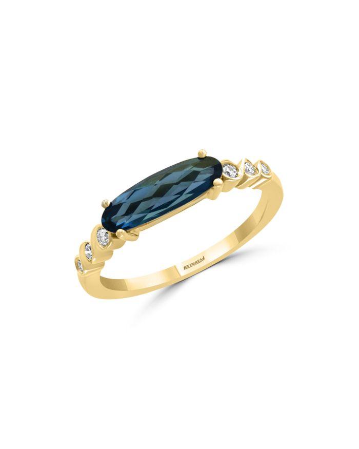 Bloomingdale's London Blue Topaz & Diamond Ring in 14K Yellow Gold - 100% Exclusive    Bloomingdale's