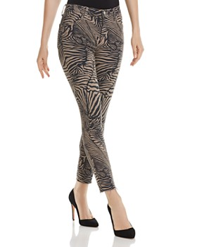 J Brand - Alana High-Rise Crop Skinny Jeans in Zebra Van Patten - 100% Exclusive