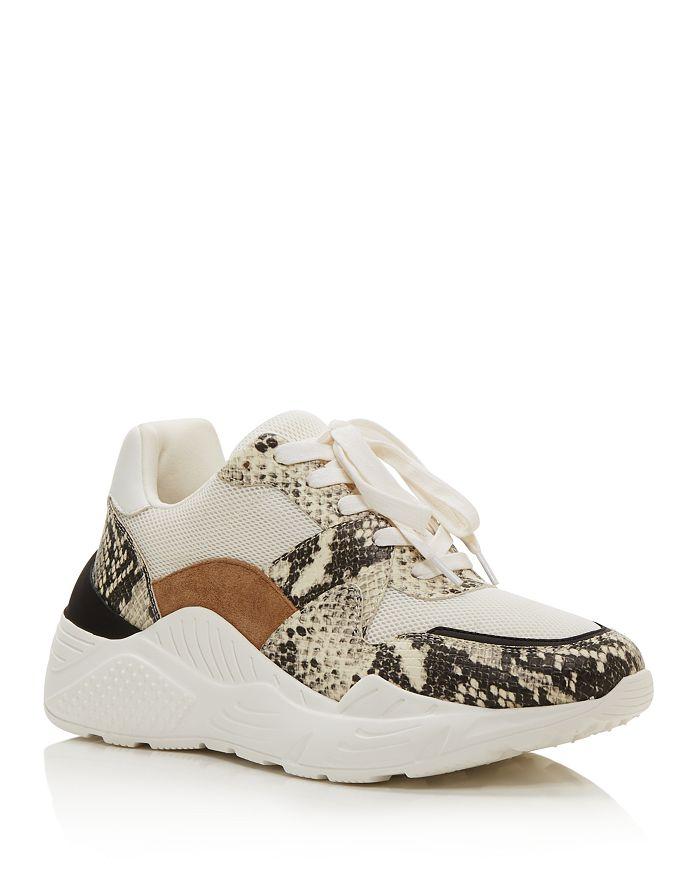 AQUA - Women's Alba Mixed Media Platform Sneakers - 100% Exclusive
