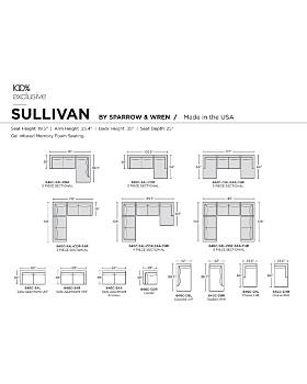 Sparrow & Wren - Sullivan Sectional - Right Corner Facing - 100% Exclusive