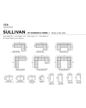 Sparrow & Wren - Sullivan 4-Piece Sectional