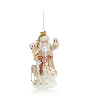 Bloomingdale's - Embellished Santa & Deer Glass Ornament - 100% Exclusive