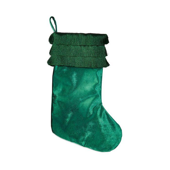 Bloomingdale's - Green Tassel Cuff Velvet Stocking - 100% Exclusive