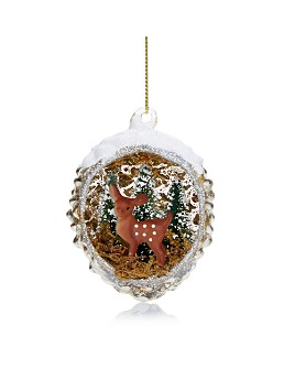 Bloomingdale's - Open Pinecone Glass Ornament - 100% Exclusive