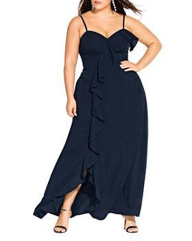 City Chic Plus - Catalina Ruffle Gown