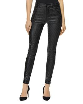 J Brand - Maria High Rise Skinny Jeans in Galactic Black Zebra