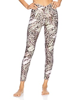 Beach Riot - Cara Botanical & Leopard Print Leggings