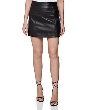 Reiss Skirts ARDEN LEATHER MINI SKIRT