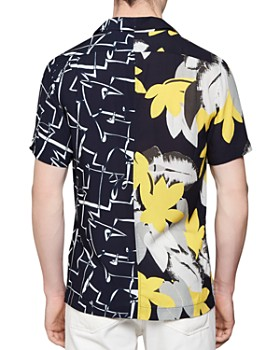 REISS - Rico Floral & Abstract Regular Fit Shirt
