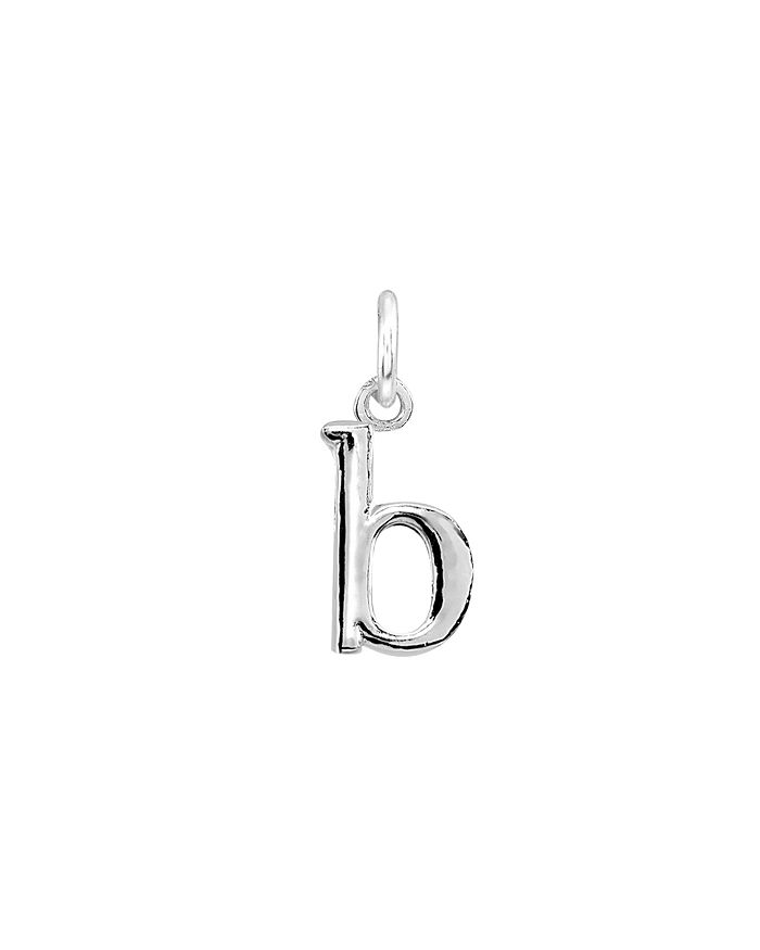 AQUA - Initial Charm in Sterling Silver or 18K Gold-Plated Sterling Silver - 100% Exclusive