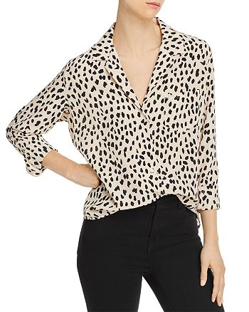 Rails - Rebel Cheetah Print Silk Shirt