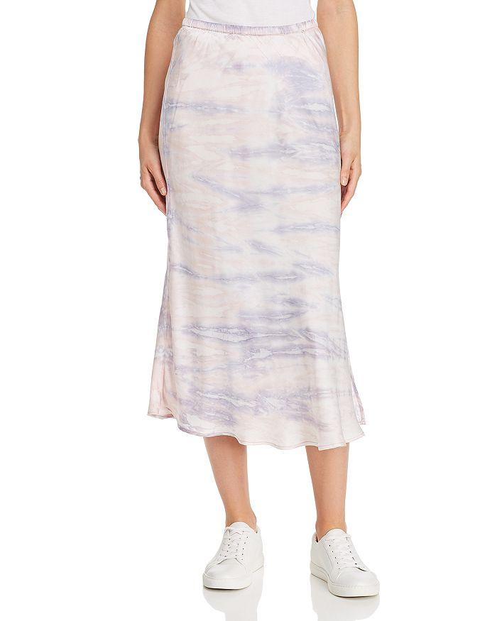 Young Fabulous & Broke Felicity Tie-Dye Slip Skirt In Lilac