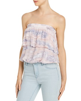 Young Fabulous & Broke - Caicos Tie-Dye Strapless Top