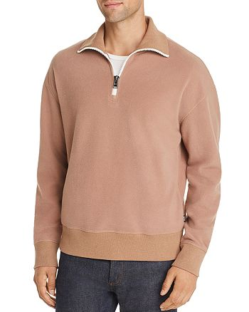BOSS - Sidney Teddy Quarter Zip Sweater